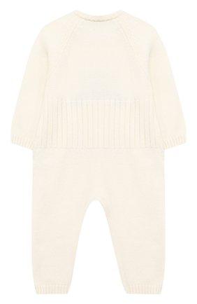 Детский шерстяной комбинезон BABY T белого цвета, арт. 20AI061T/1M-12M | Фото 2