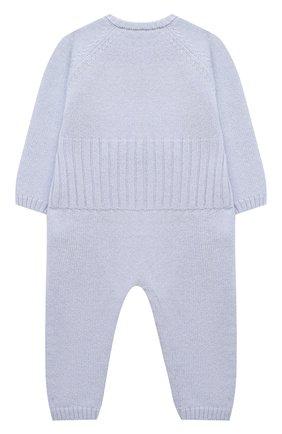 Детский шерстяной комбинезон BABY T голубого цвета, арт. 20AI061T/1M-12M | Фото 2
