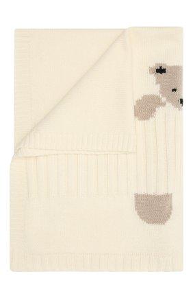 Детского шерстяное одеяло BABY T белого цвета, арт. 20AI062C0 | Фото 1
