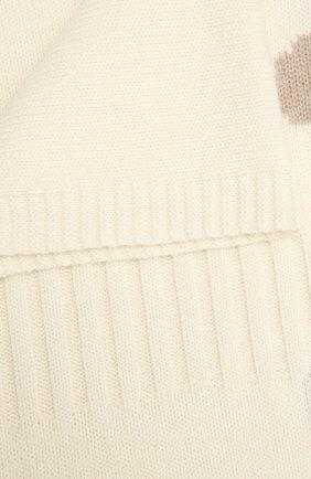 Детского шерстяное одеяло BABY T белого цвета, арт. 20AI062C0 | Фото 2