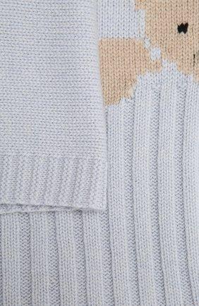 Детского шерстяное одеяло BABY T голубого цвета, арт. 20AI062C0 | Фото 2