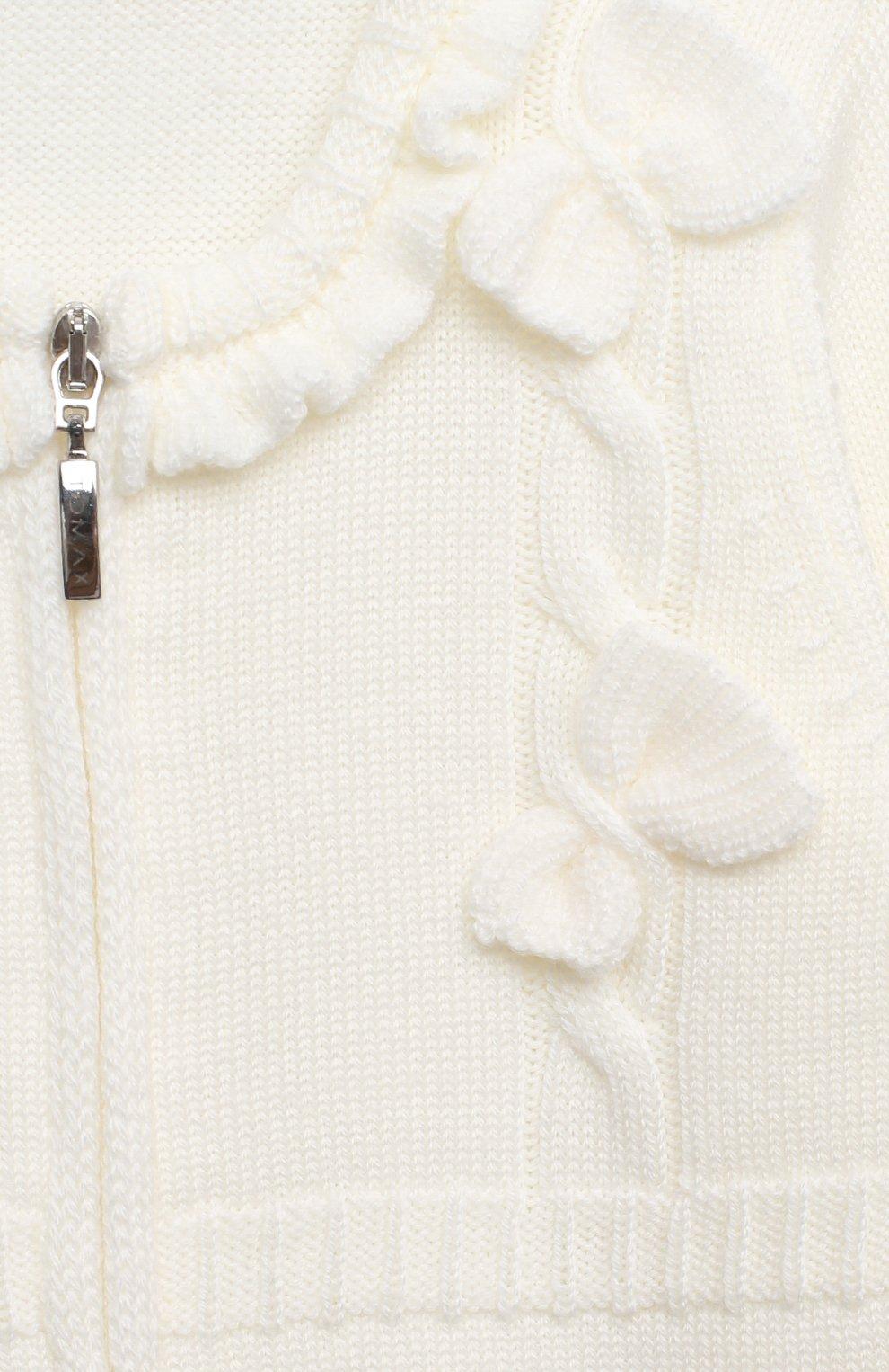 Детский шерстяной комбинезон BABY T белого цвета, арт. 20AI101TZ/1M-12M | Фото 3