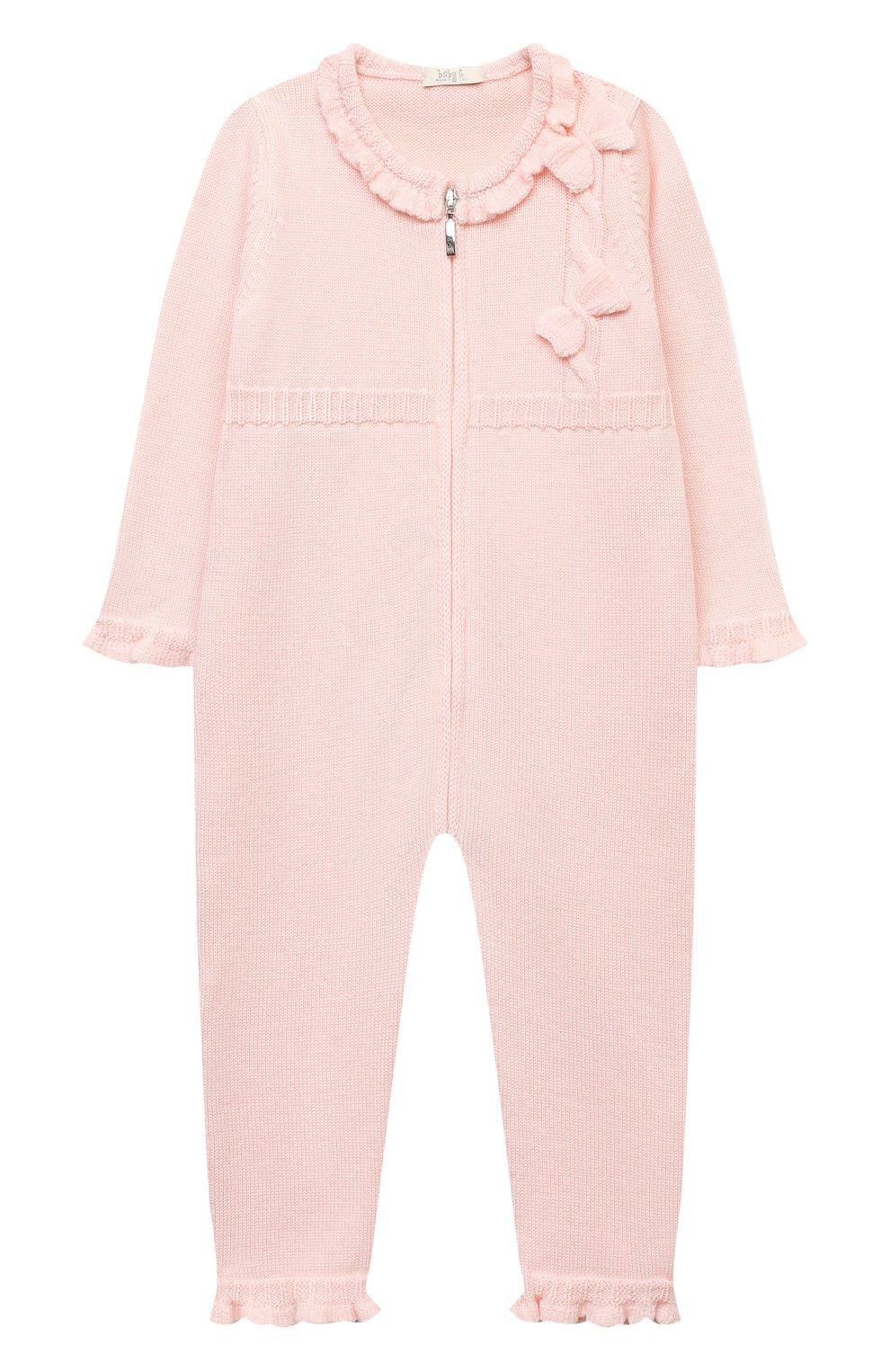 Детский шерстяной комбинезон BABY T светло-розового цвета, арт. 20AI101TZ/1M-12M   Фото 1