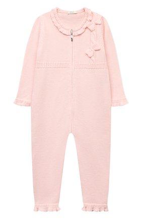 Детский шерстяной комбинезон BABY T светло-розового цвета, арт. 20AI101TZ/1M-12M | Фото 1