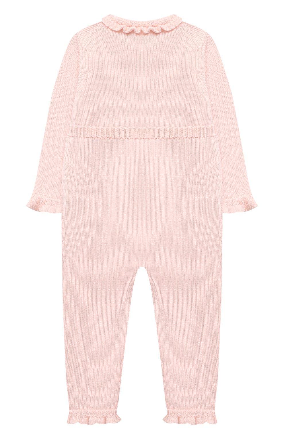 Детский шерстяной комбинезон BABY T светло-розового цвета, арт. 20AI101TZ/1M-12M   Фото 2