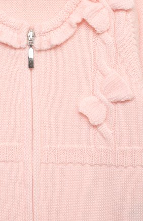 Детский шерстяной комбинезон BABY T светло-розового цвета, арт. 20AI101TZ/1M-12M   Фото 3