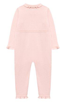 Детский шерстяной комбинезон BABY T светло-розового цвета, арт. 20AI101TZ/18M-3A | Фото 2