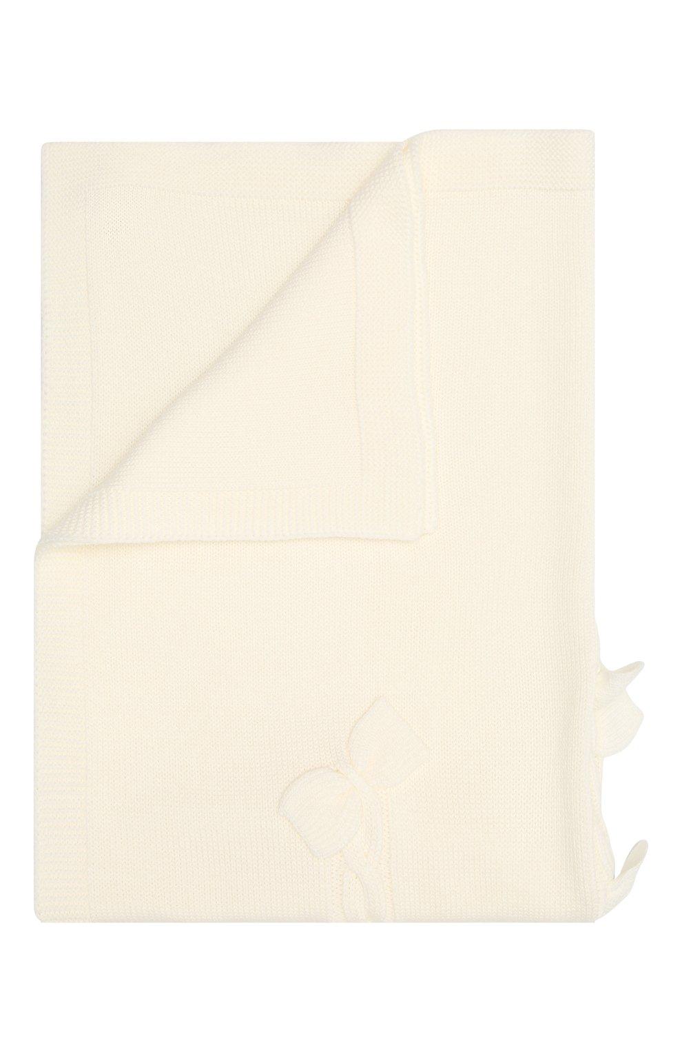 Детского шерстяное одеяло BABY T белого цвета, арт. 20AI102C0 | Фото 1 (Материал: Шерсть)