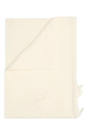 Детского шерстяное одеяло BABY T белого цвета, арт. 20AI102C0 | Фото 1