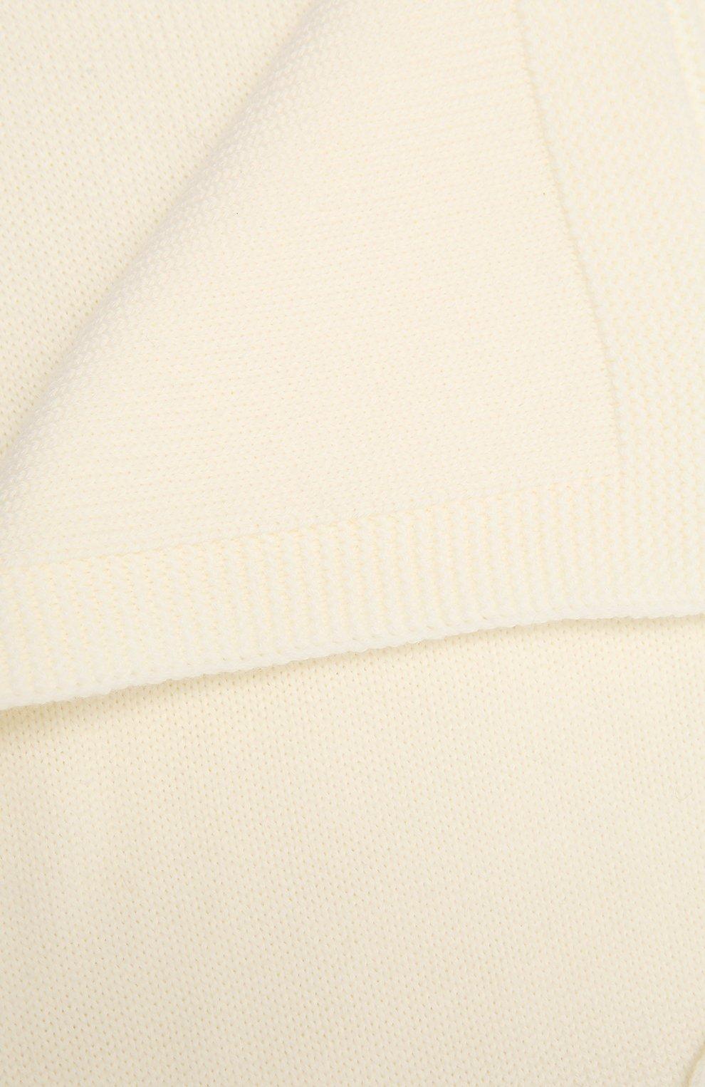Детского шерстяное одеяло BABY T белого цвета, арт. 20AI102C0 | Фото 2 (Материал: Шерсть)
