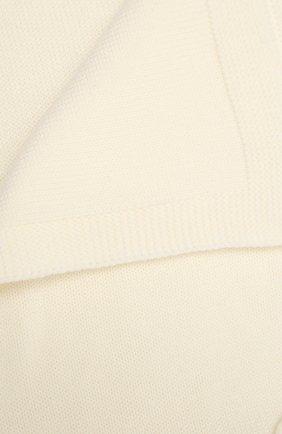Детского шерстяное одеяло BABY T белого цвета, арт. 20AI102C0 | Фото 2
