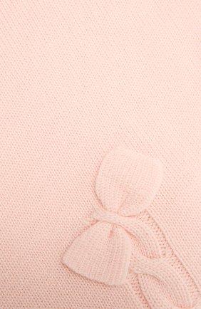 Детского шерстяное одеяло BABY T светло-розового цвета, арт. 20AI102C0 | Фото 2