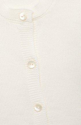 Детский комплект из кардигана и ползунков BABY T белого цвета, арт. 20AI115C | Фото 6