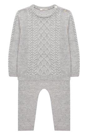 Детский комплект из пуловера и брюк BABY T серого цвета, арт. 20AI160C/1M-12M | Фото 1