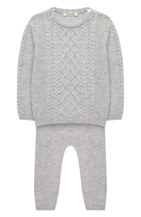 Детский комплект из пуловера и брюк BABY T серого цвета, арт. 20AI160C/18M-3A | Фото 1