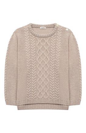 Детский комплект из пуловера и брюк BABY T бежевого цвета, арт. 20AI160C/18M-3A | Фото 2
