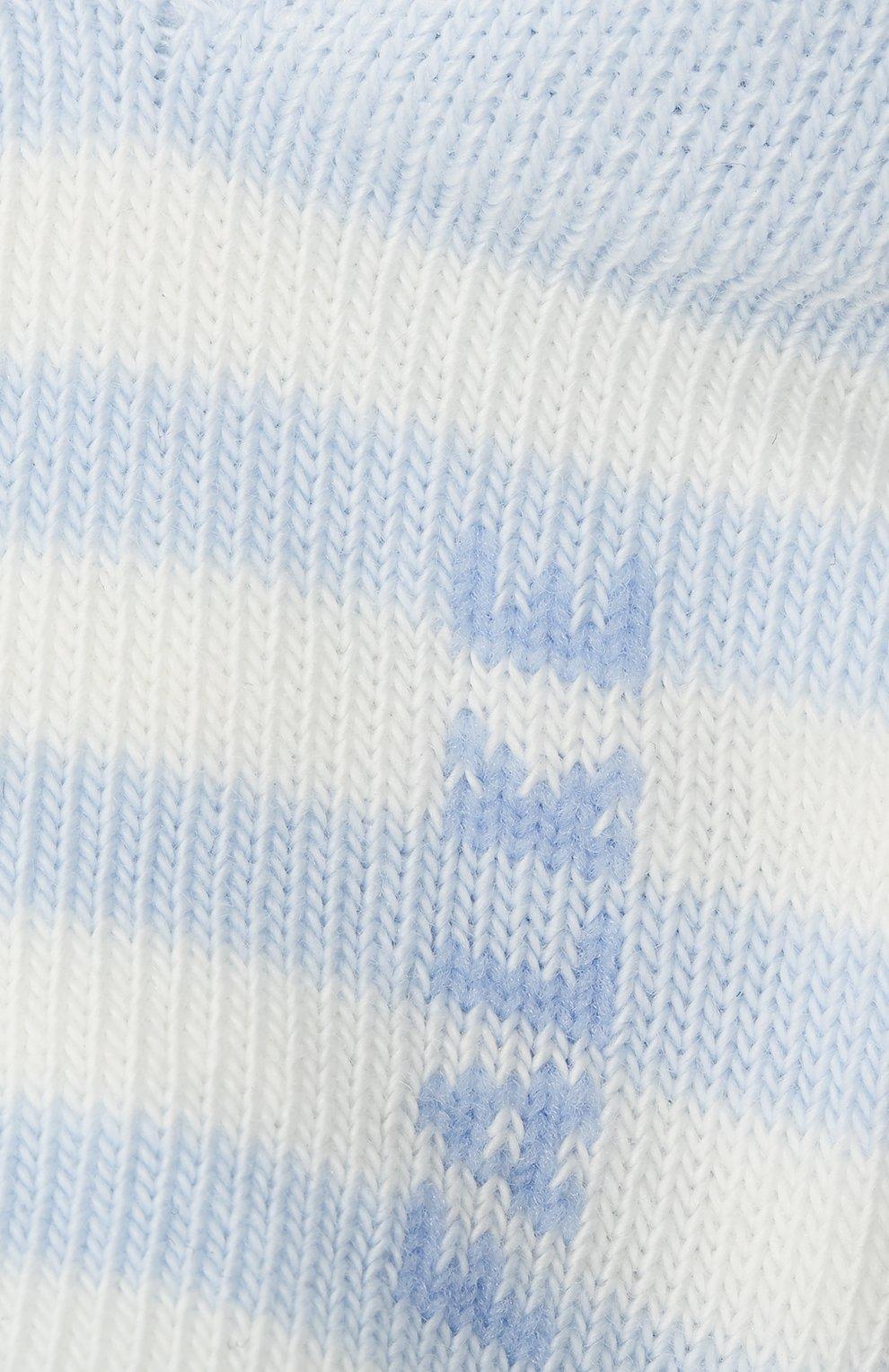 Детские хлопковые носки FALKE голубого цвета, арт. 10045.   Фото 2