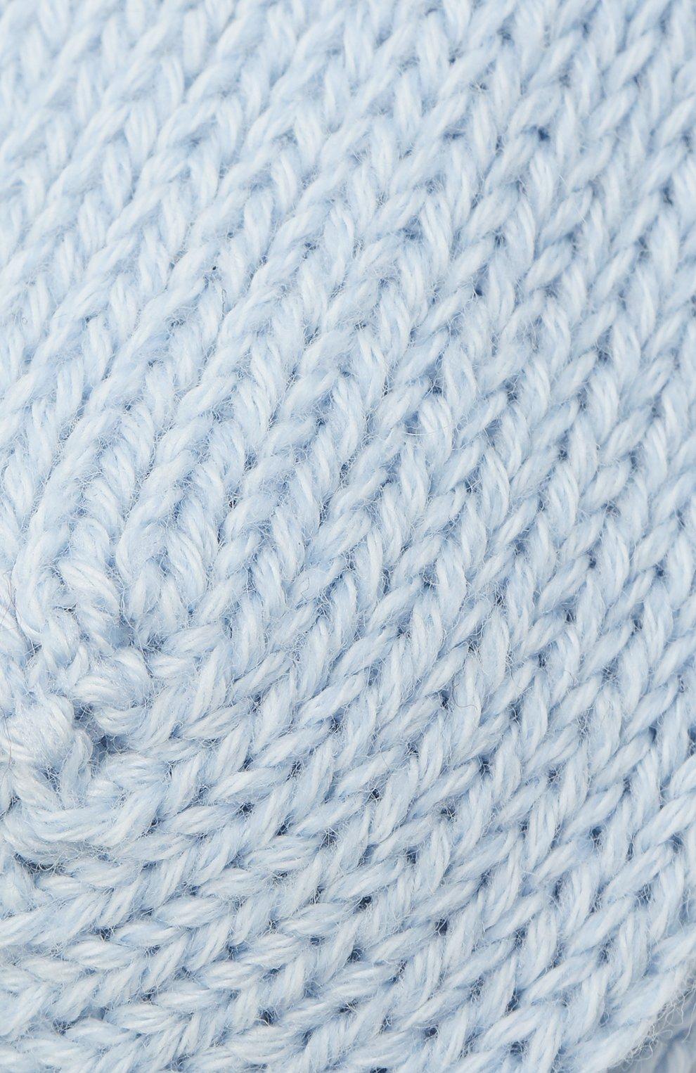 Детские хлопковые носки FALKE голубого цвета, арт. 10408. | Фото 2 (Материал: Текстиль, Хлопок)