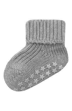 Детские хлопковые носки FALKE серого цвета, арт. 10603. | Фото 1