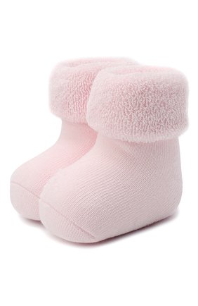 Детские хлопковые носки FALKE светло-розового цвета, арт. 10612. | Фото 1 (Материал: Текстиль, Хлопок)