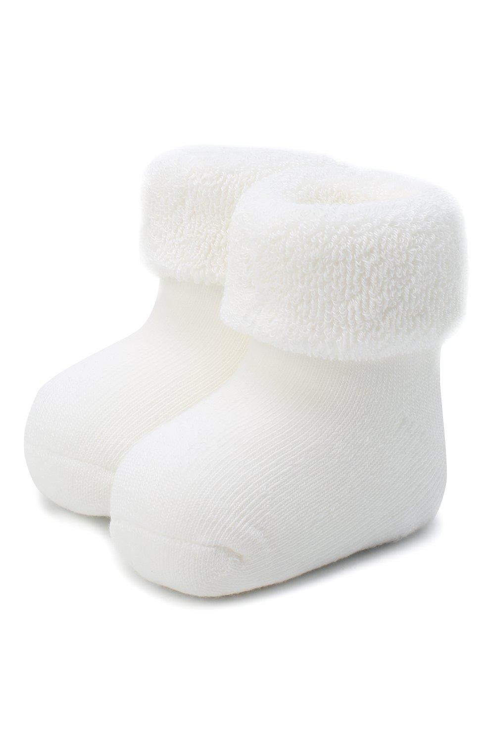 Детские хлопковые носки FALKE белого цвета, арт. 10612.   Фото 1 (Материал: Текстиль, Хлопок)