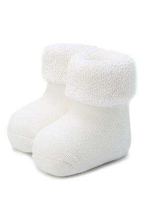 Детские хлопковые носки FALKE белого цвета, арт. 10612. | Фото 1