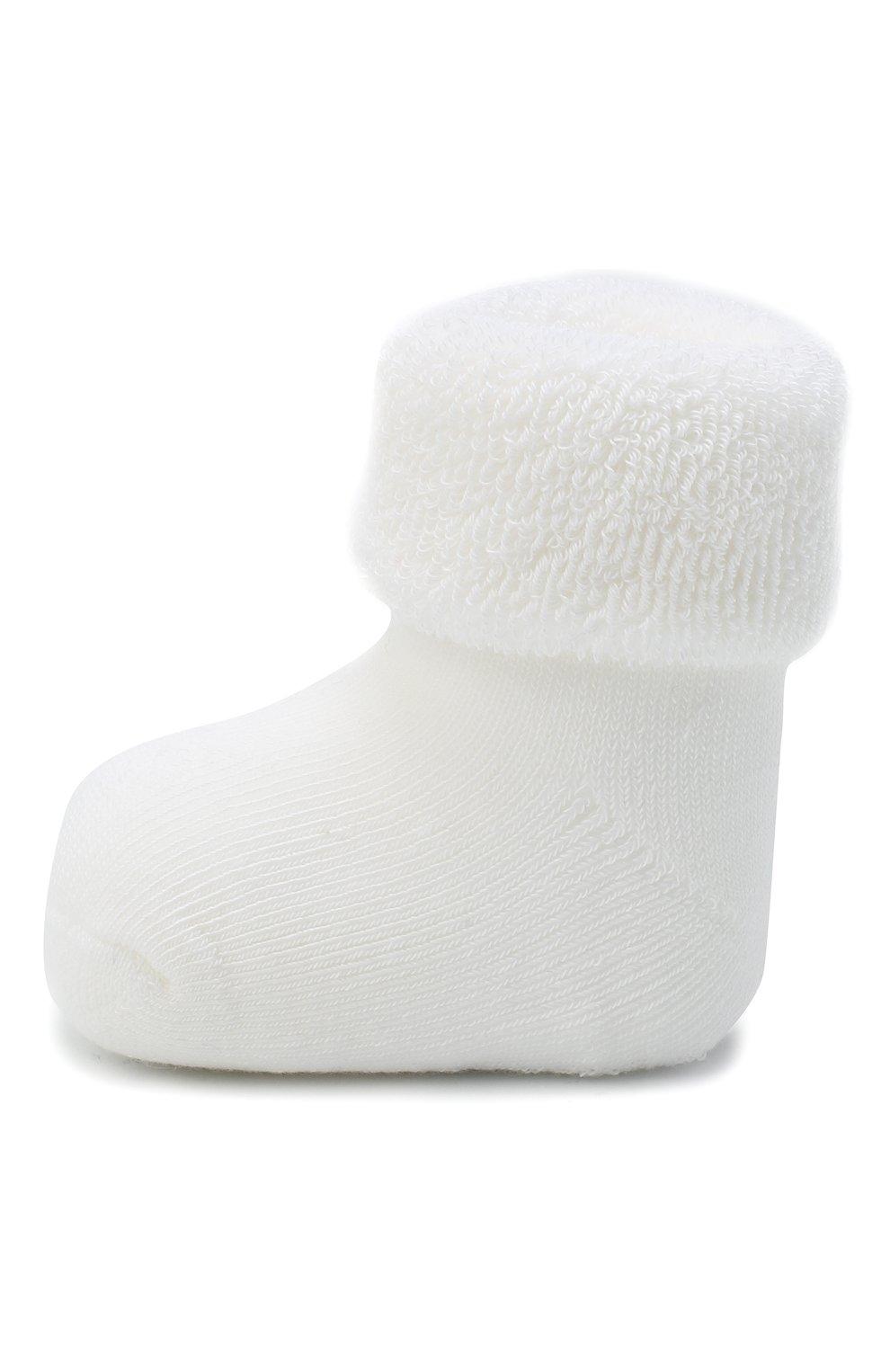 Детские хлопковые носки FALKE белого цвета, арт. 10612.   Фото 2 (Материал: Текстиль, Хлопок)