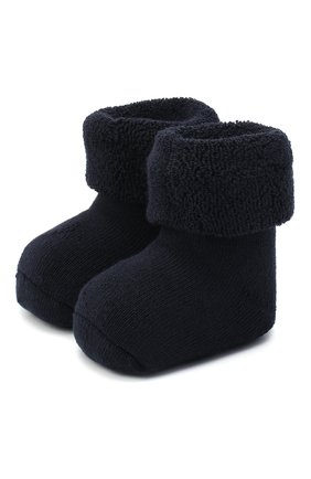 Детские хлопковые носки FALKE синего цвета, арт. 10612. | Фото 1 (Материал: Хлопок, Текстиль)