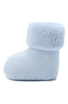 Детские хлопковые носки FALKE голубого цвета, арт. 10612. | Фото 2 (Материал: Хлопок, Текстиль)