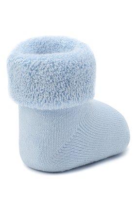 Детские хлопковые носки FALKE голубого цвета, арт. 10612. | Фото 3 (Материал: Текстиль, Хлопок)