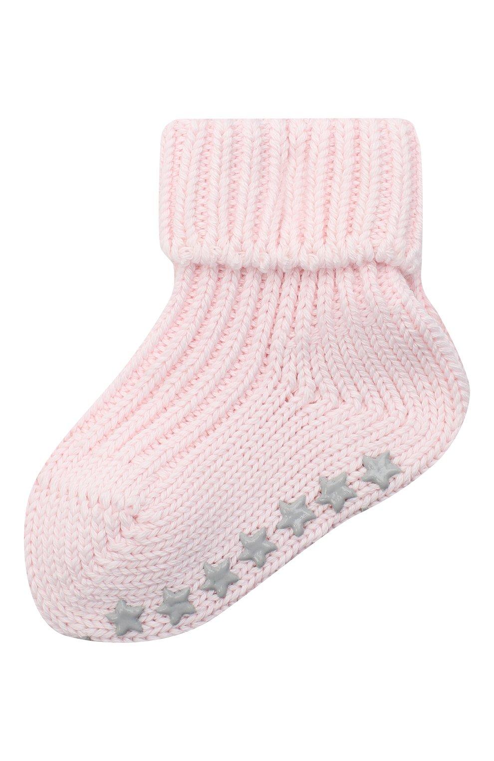Детские хлопковые носки FALKE розового цвета, арт. 10603.   Фото 1 (Материал: Текстиль, Хлопок)