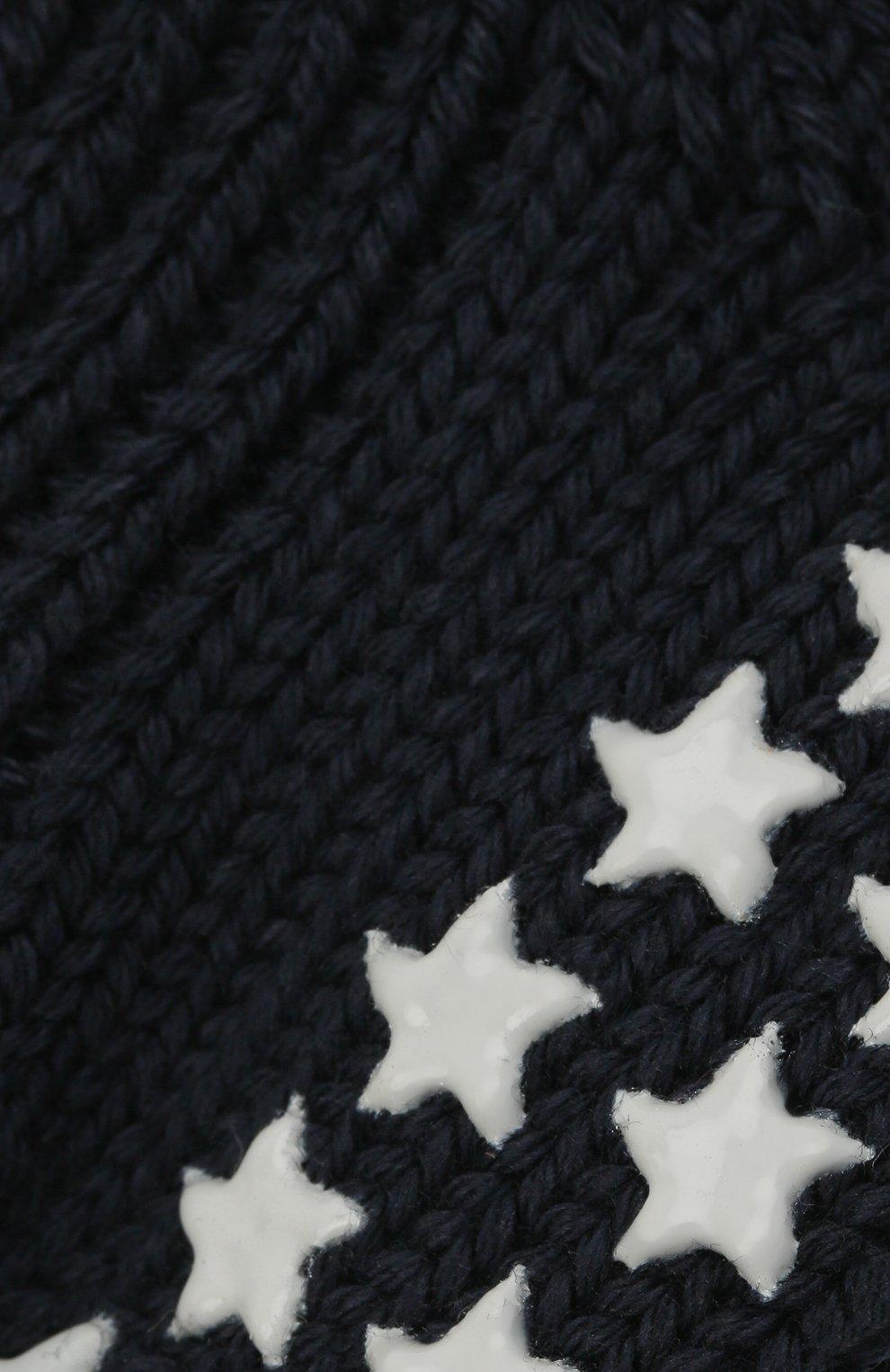 Детские хлопковые носки FALKE темно-синего цвета, арт. 10603. | Фото 2 (Материал: Текстиль, Хлопок)