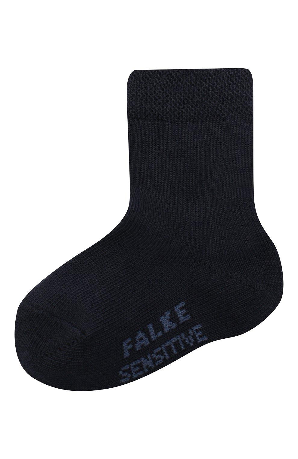 Детские хлопковые носки FALKE темно-синего цвета, арт. 10626. | Фото 1