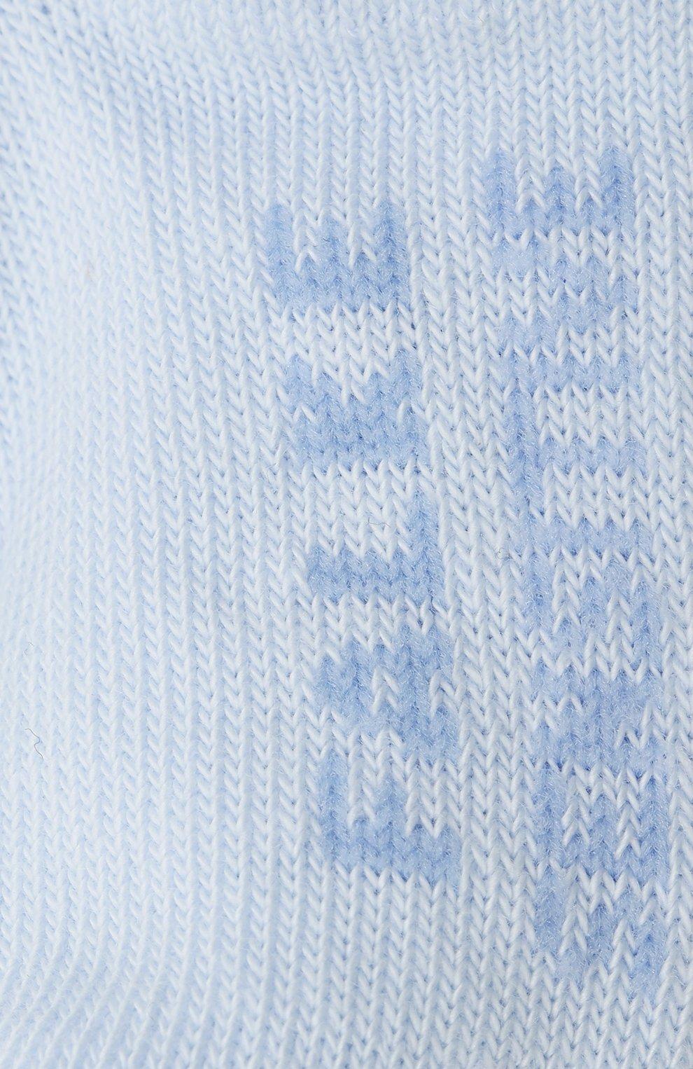Детские хлопковые носки FALKE голубого цвета, арт. 10626.   Фото 2 (Материал: Текстиль, Хлопок)