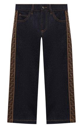 Детские джинсы FENDI синего цвета, арт. JUF021/A6IQ/8A-12+ | Фото 1
