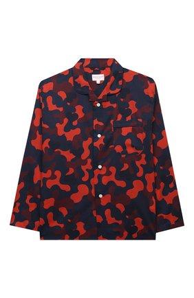 Женская хлопковая пижама DEREK ROSE красного цвета, арт. 7025-LEDB036/3-12 | Фото 2 (Рукава: Длинные; Материал внешний: Хлопок; Ростовка одежда: 4 года | 104 см, 8 лет | 128 см)