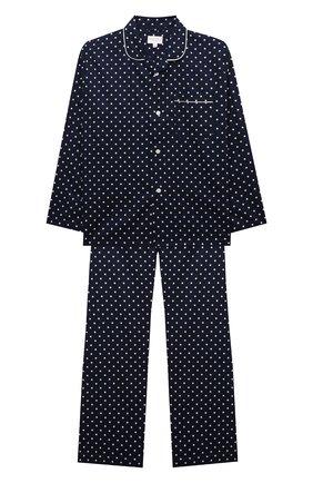 Детская хлопковая пижама DEREK ROSE синего цвета, арт. 7025-PLAZ060/3-12 | Фото 1