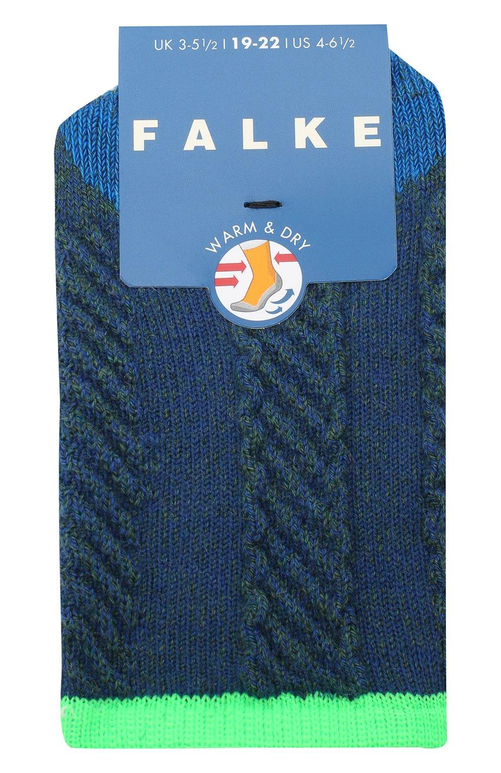 Детские носки FALKE синего цвета, арт. 12917.   Фото 1