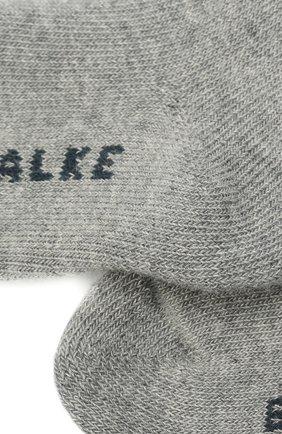 Детские хлопковые колготки FALKE серого цвета, арт. 13615. | Фото 2