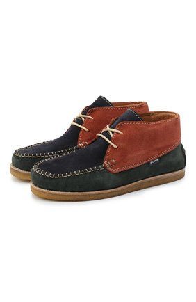 Детские замшевые ботинки ATLANTA MOCASSIN разноцветного цвета, арт. 9AT4AC073C3SBJ/35-41 | Фото 1