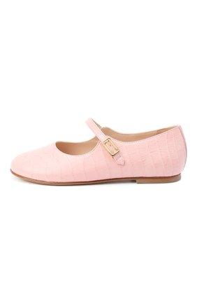 Детские кожаные туфли FENDI розового цвета, арт. JFR319/TC3/20-26   Фото 2