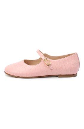 Детские кожаные туфли FENDI розового цвета, арт. JFR321/TC3/27-31 | Фото 2
