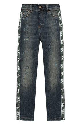 Детские джинсы DOLCE & GABBANA синего цвета, арт. L42F33/LD943/2-6 | Фото 1