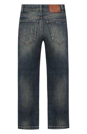 Детские джинсы DOLCE & GABBANA синего цвета, арт. L42F33/LD943/2-6 | Фото 2
