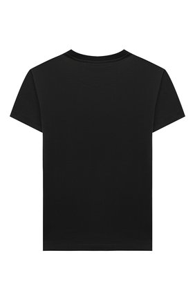 Детская хлопковая футболка DOLCE & GABBANA черного цвета, арт. L4JTBL/G7X0F/8-14   Фото 2