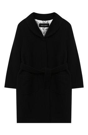 Детское шерстяное пальто DOLCE & GABBANA черного цвета, арт. L54C01/HUMAK/8-14 | Фото 1