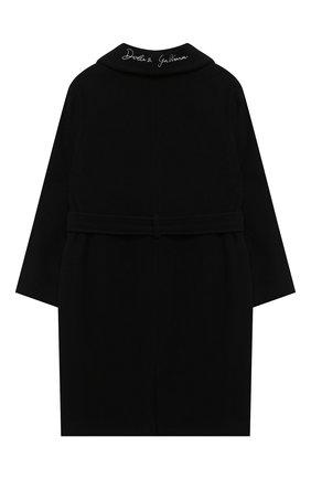 Детское шерстяное пальто DOLCE & GABBANA черного цвета, арт. L54C01/HUMAK/8-14 | Фото 2