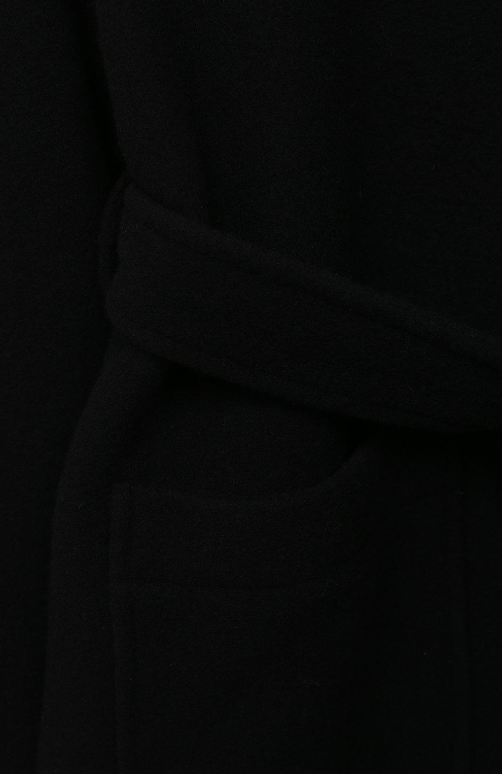 Детское шерстяное пальто DOLCE & GABBANA черного цвета, арт. L54C01/HUMAK/8-14   Фото 3