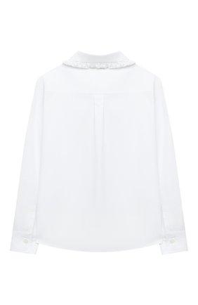 Детское хлопковая блузка DOLCE & GABBANA белого цвета, арт. L54S95/G7WXS/2-6 | Фото 2