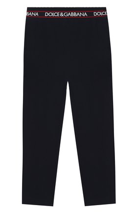 Детские хлопковые брюки DOLCE & GABBANA темно-синего цвета, арт. L5JP6V/G7WYT/2-6 | Фото 2